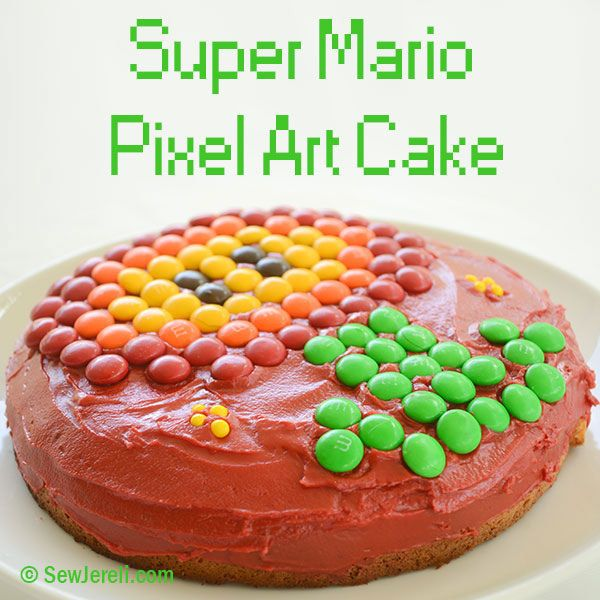 Sew Jereli Super Mario Pixel Art Cake Super Mario Party