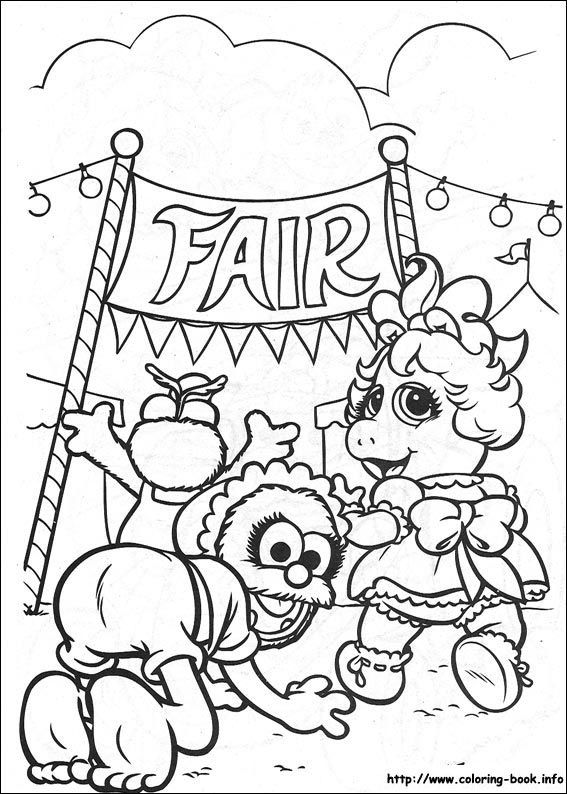 Muppet Babies Coloring Picture Star Coloring Pages Mermaid Coloring Pages Coloring Pages