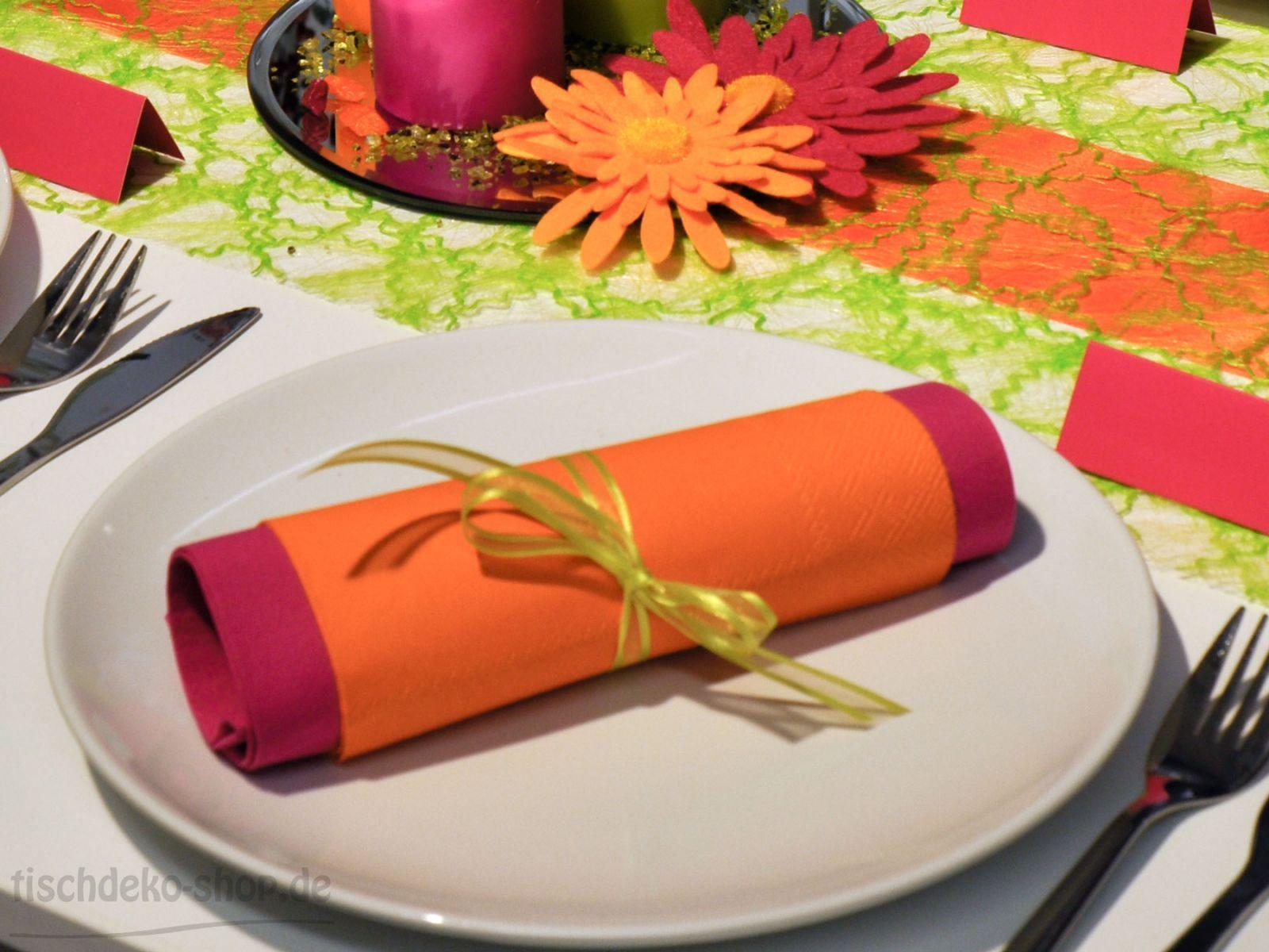 duni serviette fuchsia serviette ihr doublo orange servietten tischdeko orange und. Black Bedroom Furniture Sets. Home Design Ideas