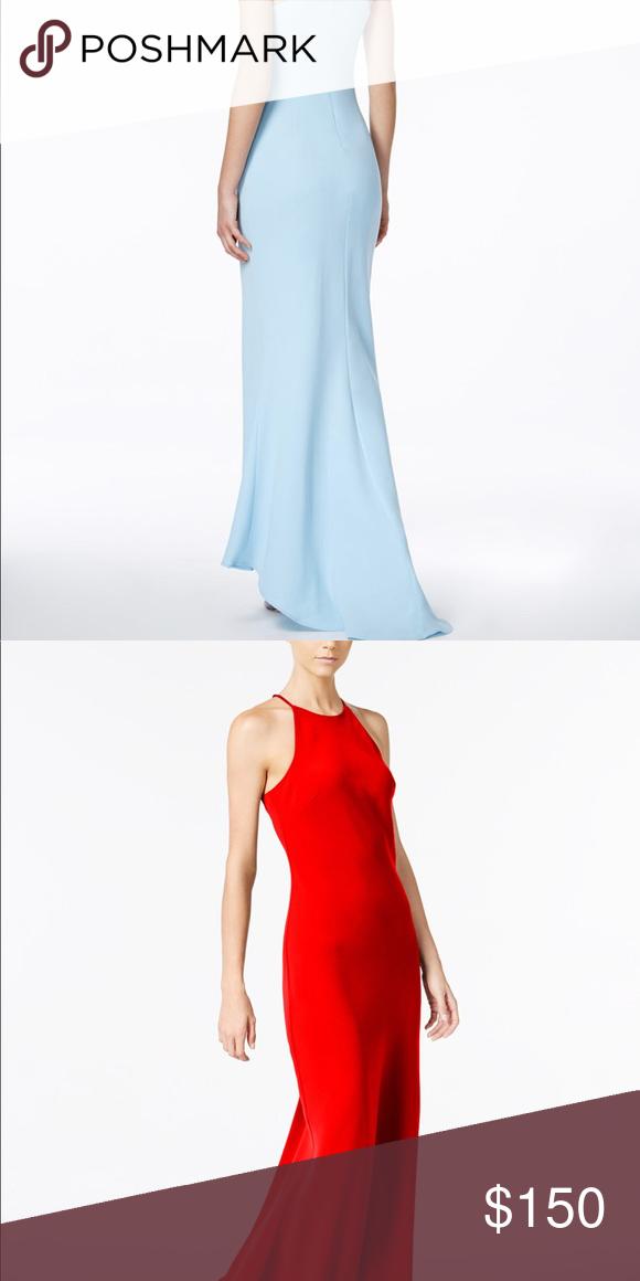 Calvin Klein Crepe Halter Gown My Posh Picks Pinterest Gowns