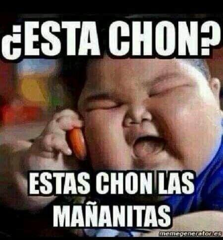 Esta Chon Estas Chon Las Mananitas Imagenes De Buenos Dias Meme De Cumpleanos Imagenes De Buenos