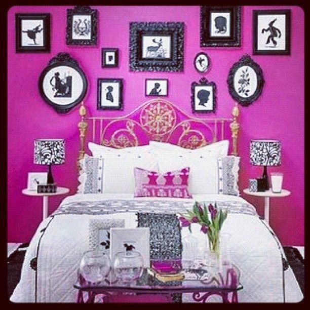 Beautiful Room Home Home Bedroom Magenta Walls