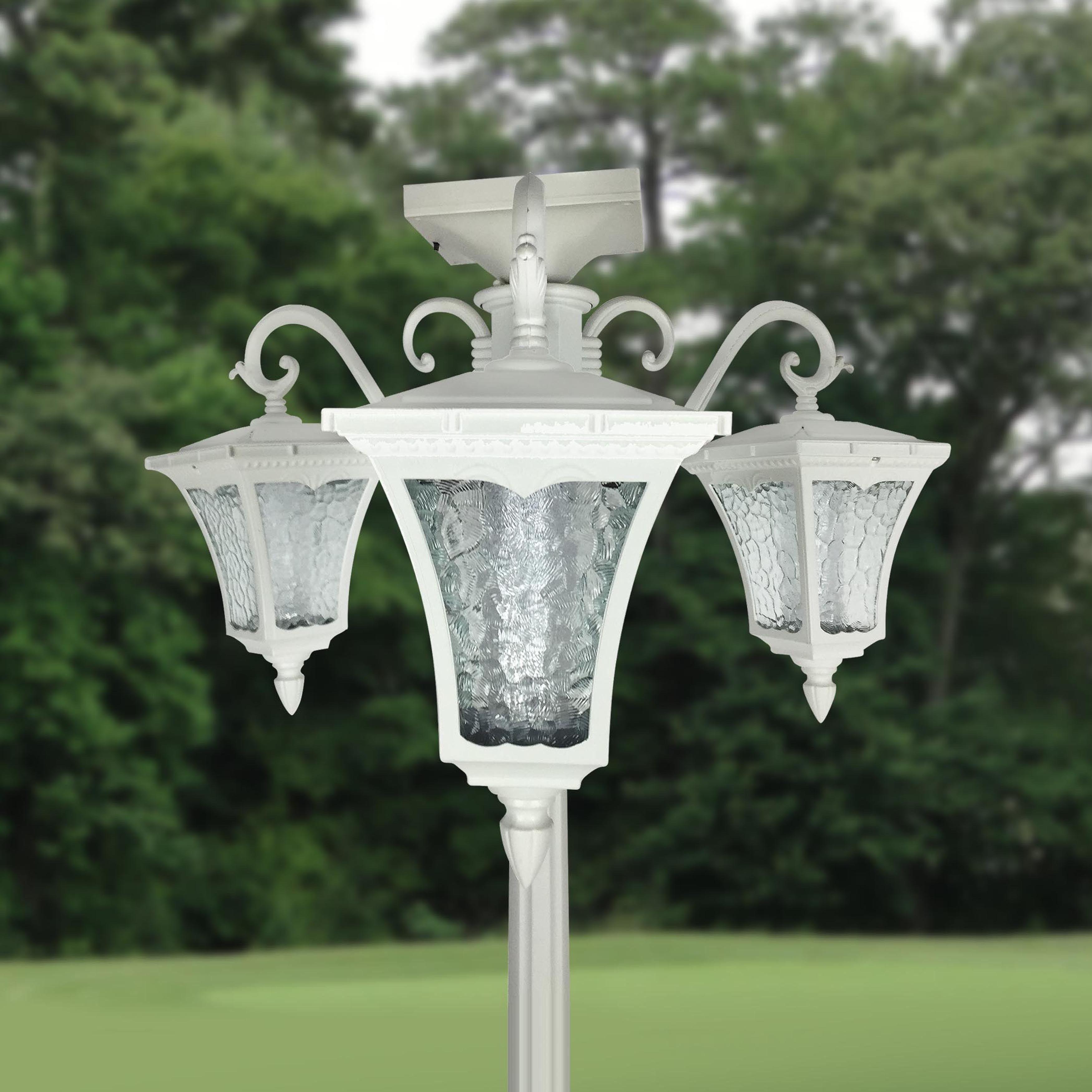 Vittoria Three Head Solar Lamp Post And Planter Solar Lamp Post Lamp Post Lights Solar Lamp