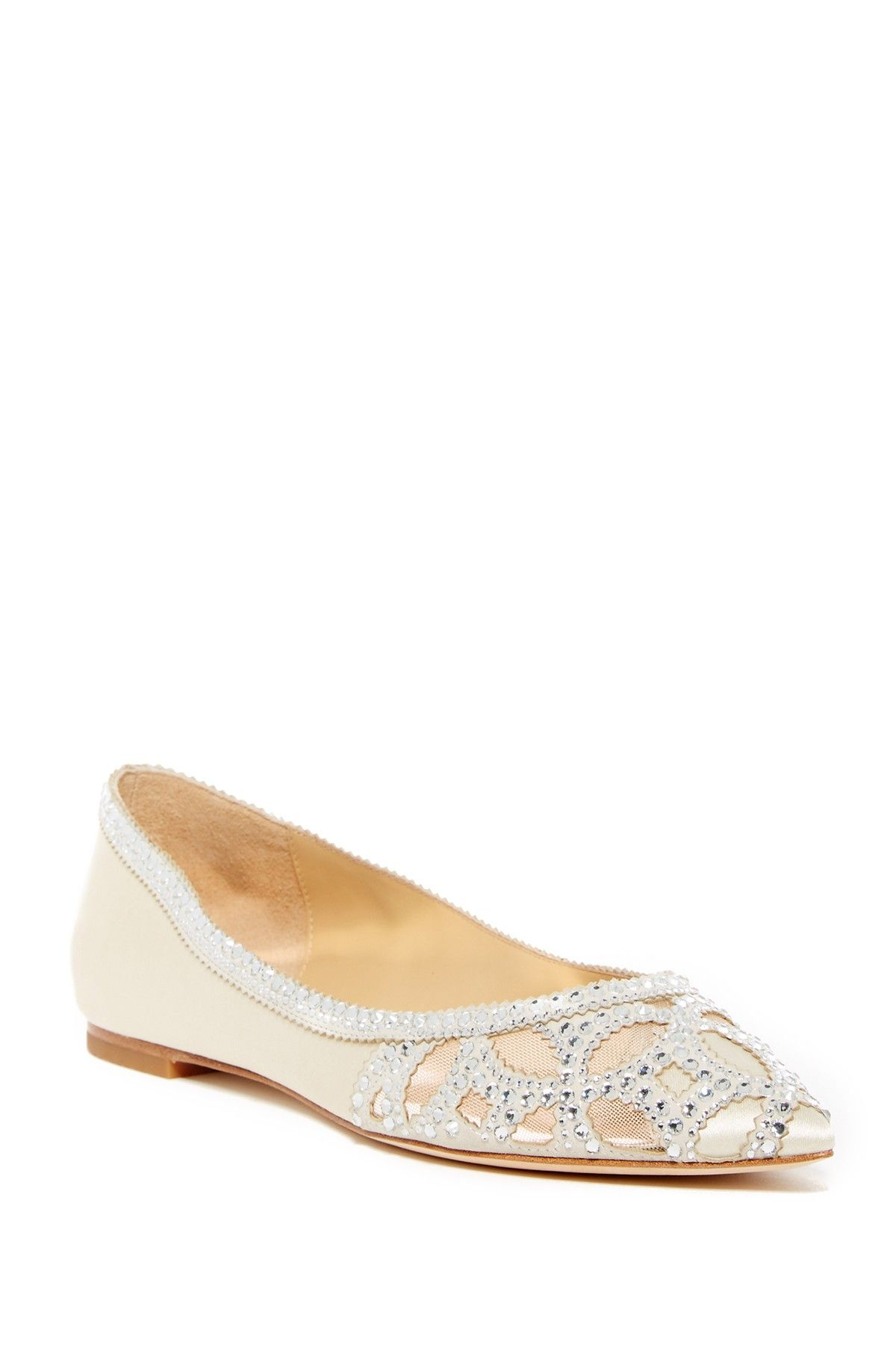3b4e2b731cd61 Sunny Embellished Satin Flat | The Look in 2019 | Flats, Badgley ...