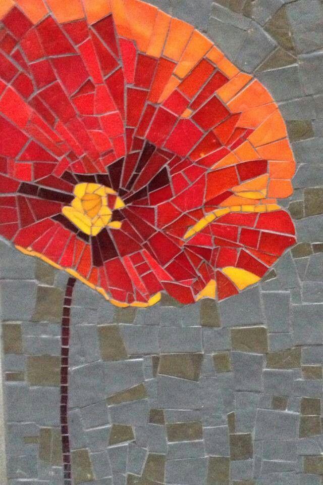Image result for poppy mosaic art