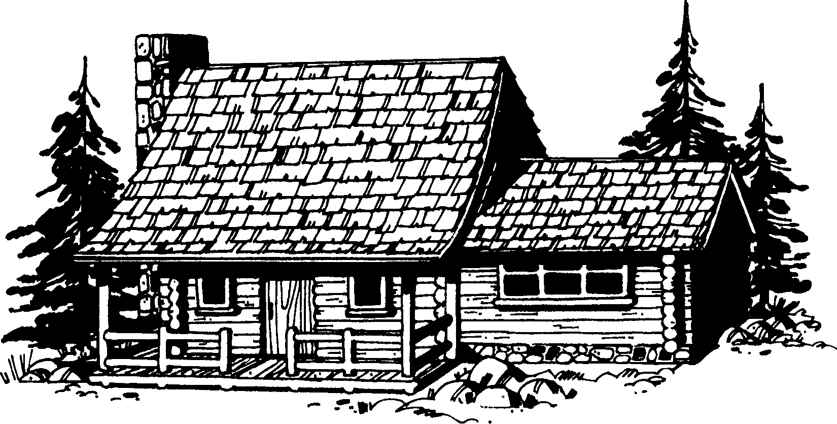 Log Cabin Black And White Free Download In 2021 White Cabin Black And White Log Cabin