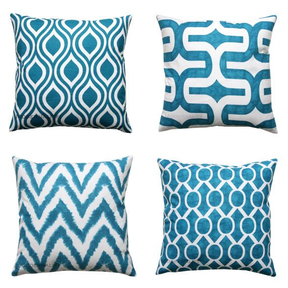 Cojines decorativos funda de almohada color turquesa - Sofa azul turquesa ...
