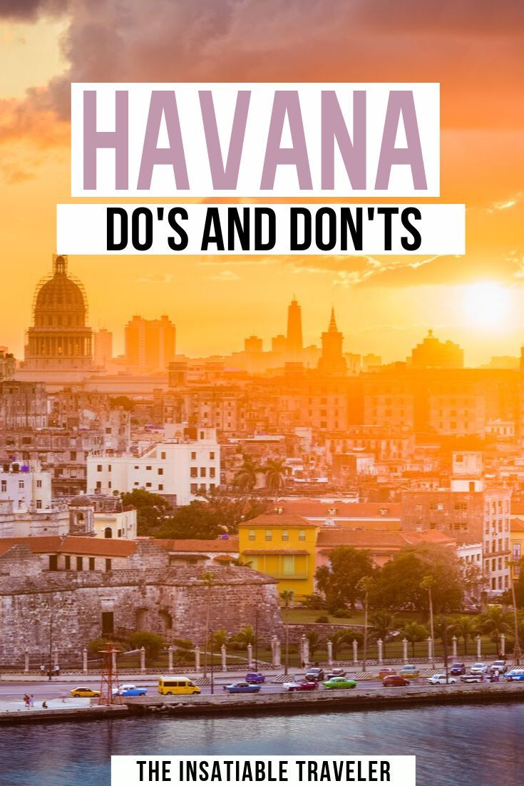What Not to do in Havana, Cuba: a helpful list of Havana Do's and Don'ts. Before you hop on a plane to Cuba, check out this list of essential travel tips to make the most of your holiday in Havana.   |Havana Travel Tips | Havana Travel Guide | Cuba Travel Tips | What to do in Havana Cuba | What Not to Do in Havana Cuba | #cuba #havana