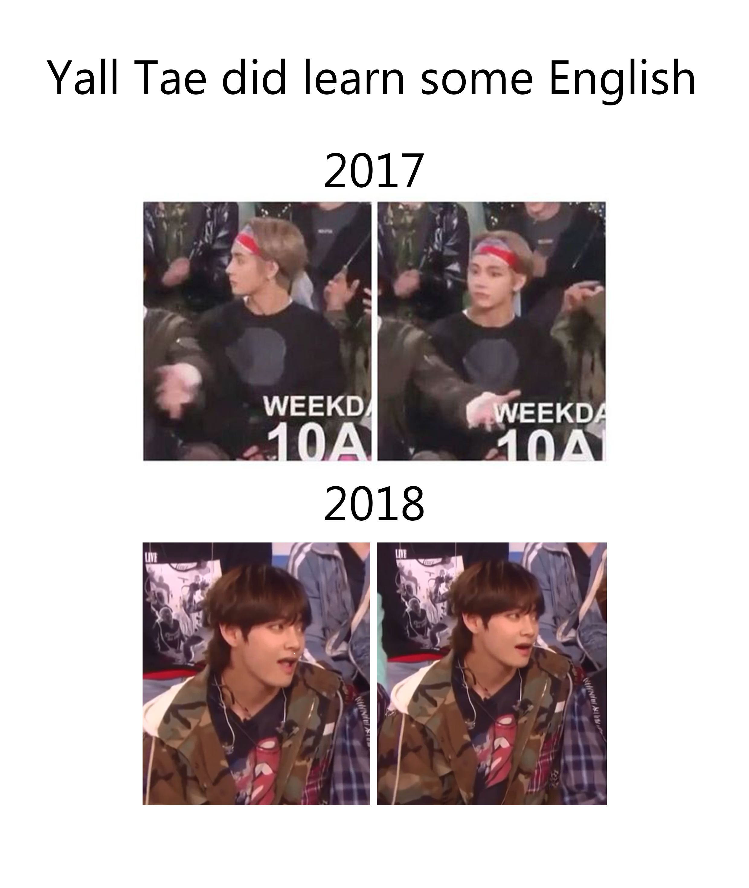 Lol Xd Welp I Can See The Difference When Ellen S Mentioning The Dating Stuff This Year And Last Year Lol Ma Baby Got So Bts Funny Bts Boys Bts Taehyung