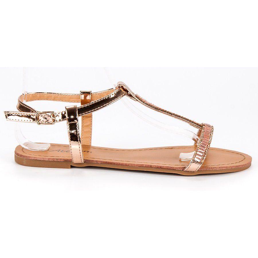 Abloom Lakierowane Plaskie Sandalki Rozowe Shoes Sandals Fashion