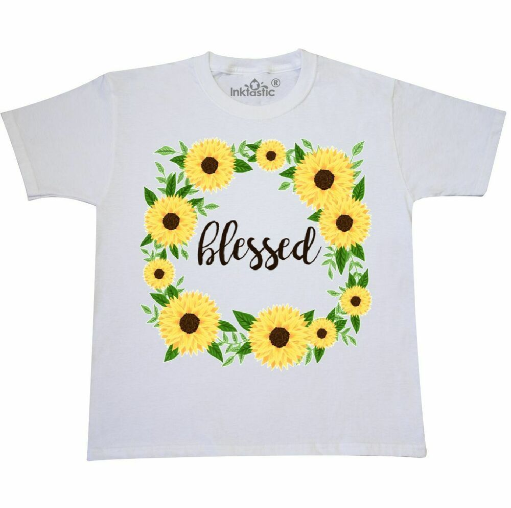 cb9e18e0 Inktastic Blessed Sunflower Wreath Youth T-Shirt Summer Mother Mothers Day  Mama #fashion #
