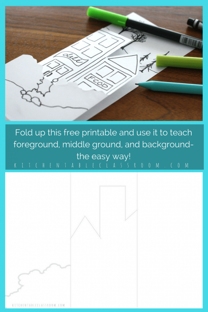 Teaching Foreground Middleground And Background The Easy Way Art Lessons Elementary Perspective Art Art Lesson Plans