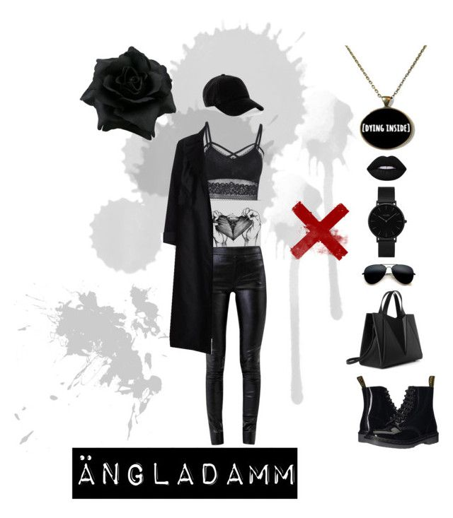 """Ängladamm"" by amandalowenborg on Polyvore featuring CLUSE, Helmut Lang, rag & bone and Dr. Martens"