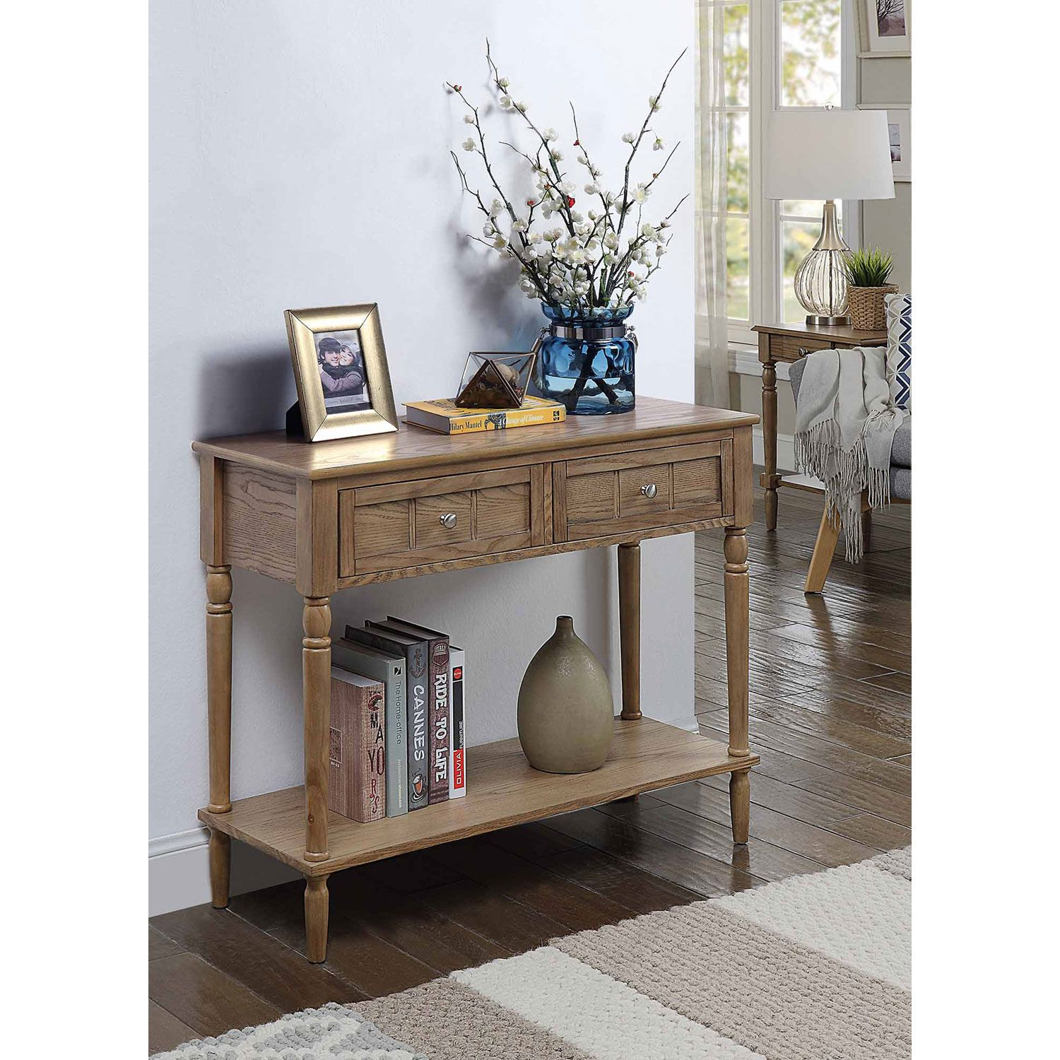 Fantastic Convenience Concepts French Country Driftwood Two Drawer Ibusinesslaw Wood Chair Design Ideas Ibusinesslaworg