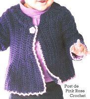 \ PINK ROSE CROCHET /: Bebê