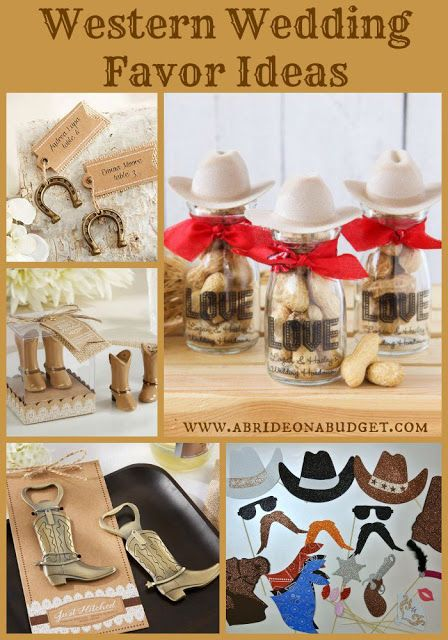 Planning A Western Wedding Get Western Wedding Favor Ideas From Www Abrideonabudget Com
