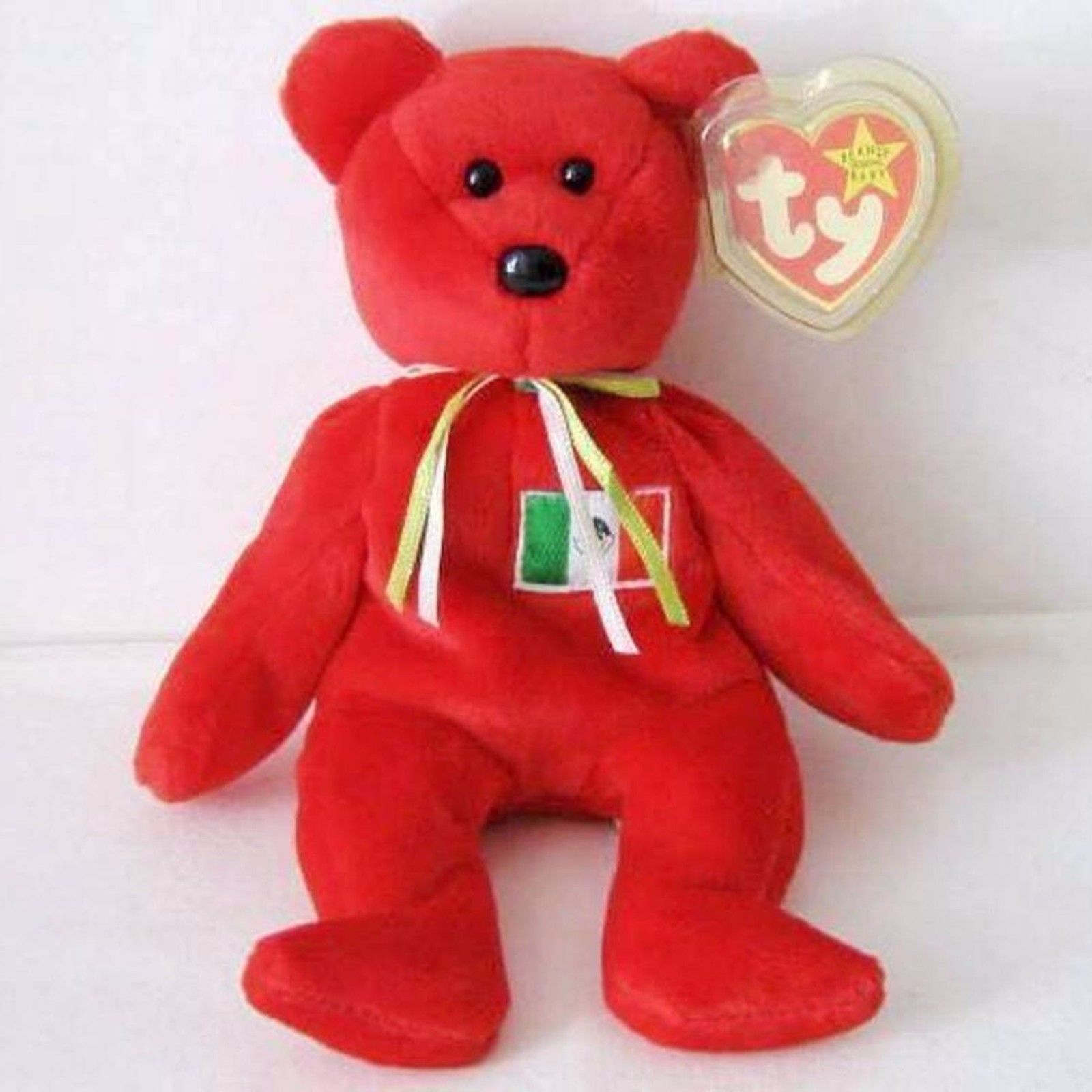 e645b531ffc Peluche Ty Beanie Babies OSITO The Mexican Bear MWT raro no stamp tush tag  rare in