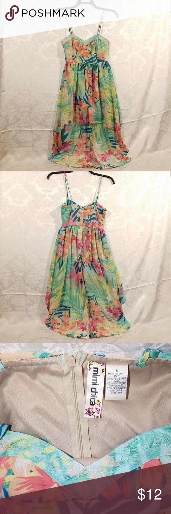 Mimi chica spring summer high low dress juniors lovely dresses