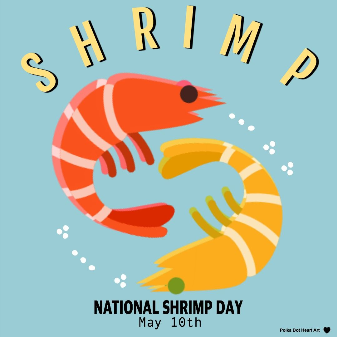 SHRIMP National Shrimp Day May 10th. Designed by Polka