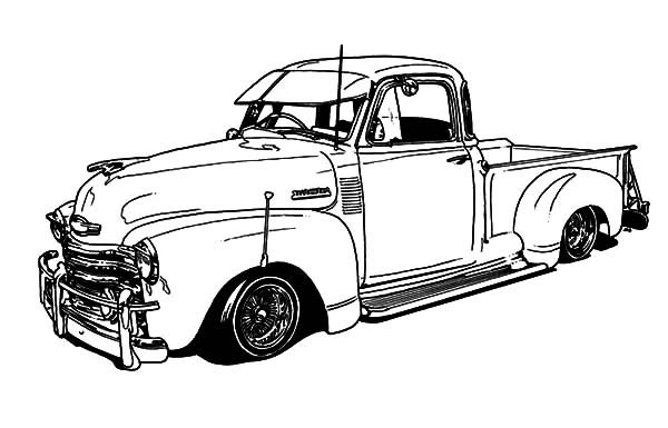 1950 Chevy Truck Lowrider Cars Coloring Pages Download Print Online Coloring Pages For Free Color In 2021 Cars Coloring Pages Lowrider Cars Truck Coloring Pages