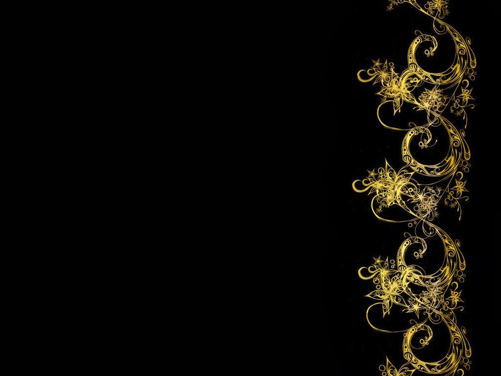 Black Wall Paper Decor : Black and gold abstract wallpaper wide g