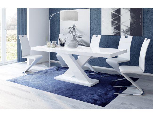 Eettafel Hoogglans Wit : Hubertus meble xenon uitschuifbare eettafel grijs wit furniture