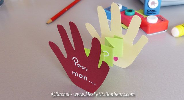 Top carte fete des peres petites mains à découper | Fête des pères  SO89