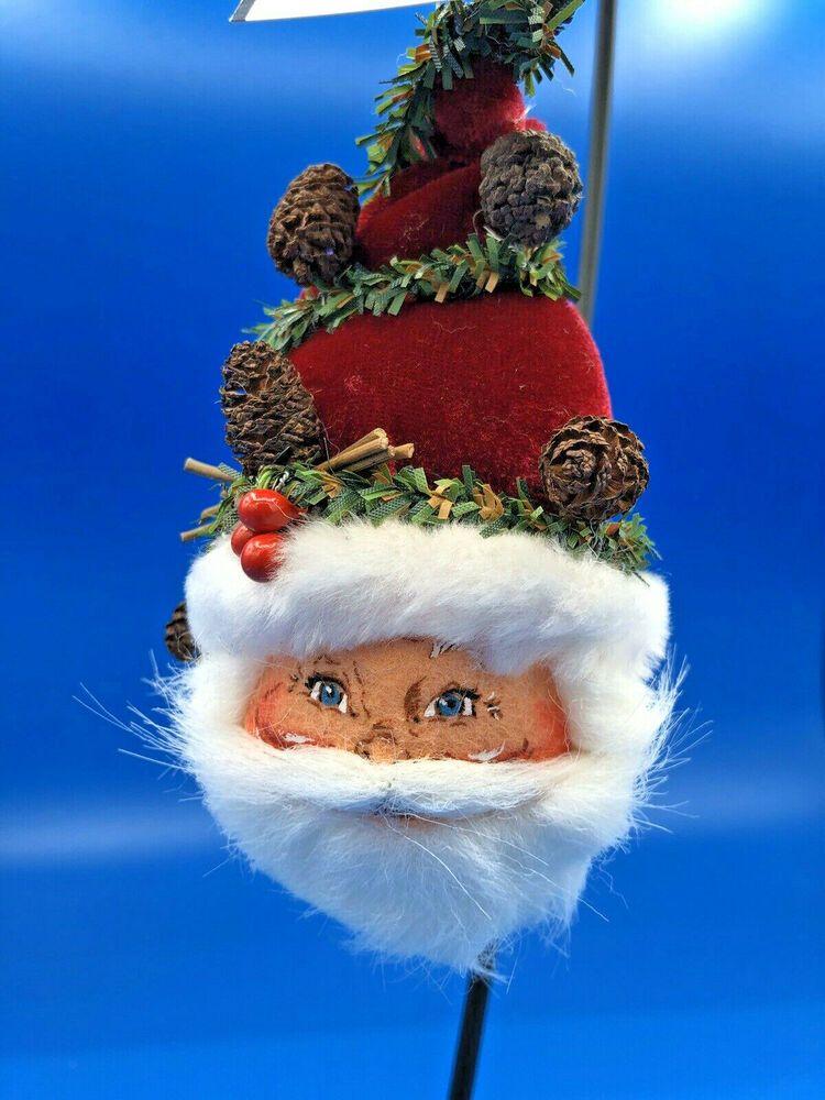 "Annalee Doll 4"" Woodland Santa Head Ornament 780404 NEW"