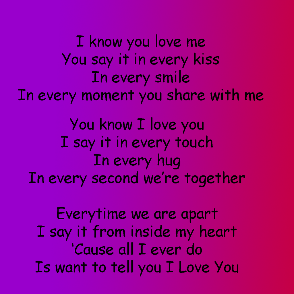 Quotes About Love For Him: I Love You Poem Picture