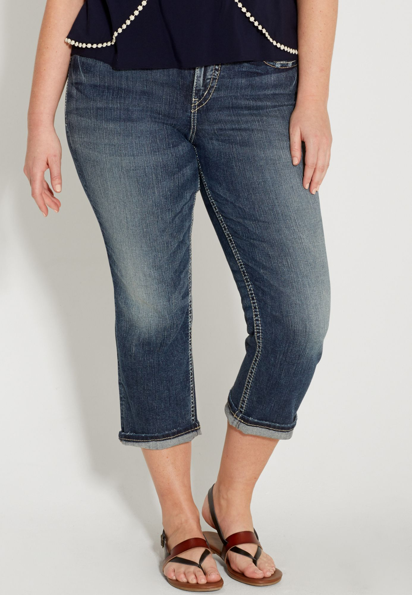 ee04947891d silver jeans co. ® plus size suki high rise capri (original price ...