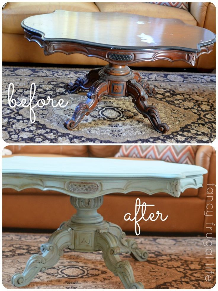 Before And After Annie Sloan Coffee Table Makeover Diy