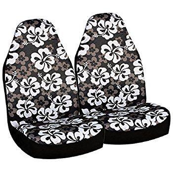 Hawaiian Car Seat Covers >> Allison 67 0346blk Black Hawaiian Print Universal Bucket