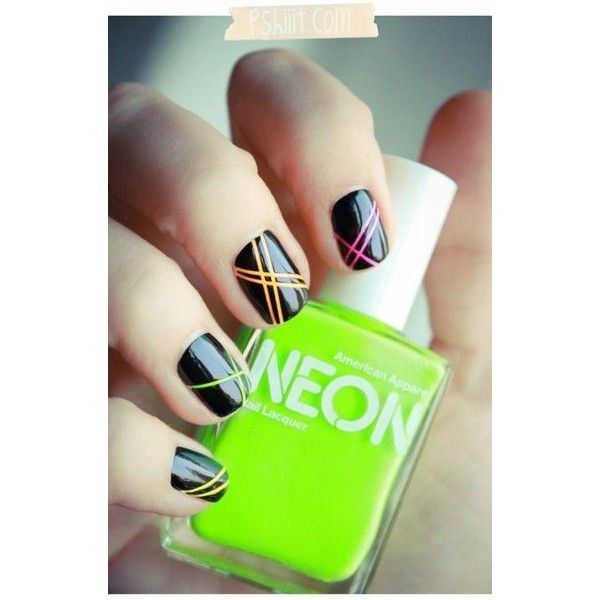 Neon Look At Me Now ❤ liked on Polyvore