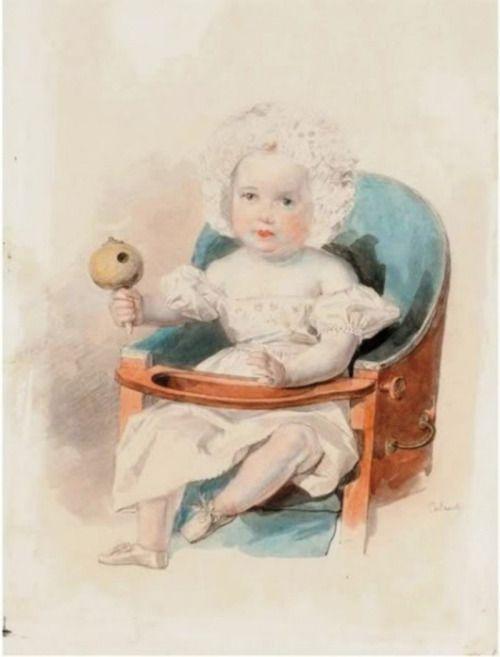 Baby Grand Duchess Alexandra Nikolaevna by Sokolov.