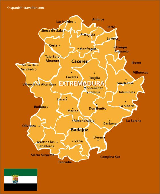 Map Of Spain Extremadura.Map Of Extremadura Spain Spain Travel Guide Travel