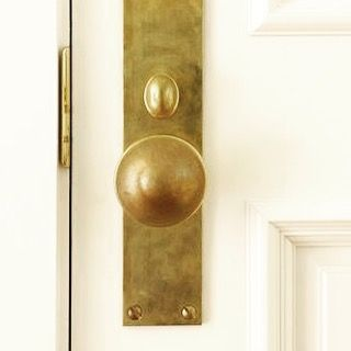 My morning obsession..... Currently trying to source this stunning brass door hardware spotted on Pinterest from #duncanmcroberts Hardware by Dennis True with Old and Elegant out of Bellevue, WA (another source to look at is Rocky Mountain Hardware)