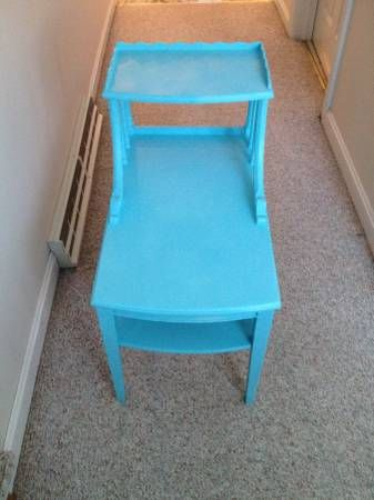 Refinished Mersman Table I M Selling On Craigslist Western Mass Selling On Craigslist End Tables Diy