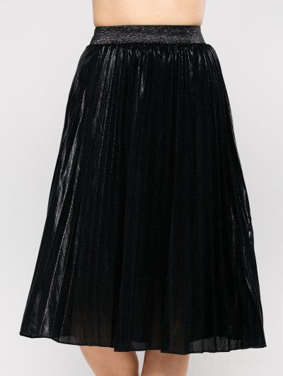 Pleated Tea Length Skirt | Psychedelic Monk