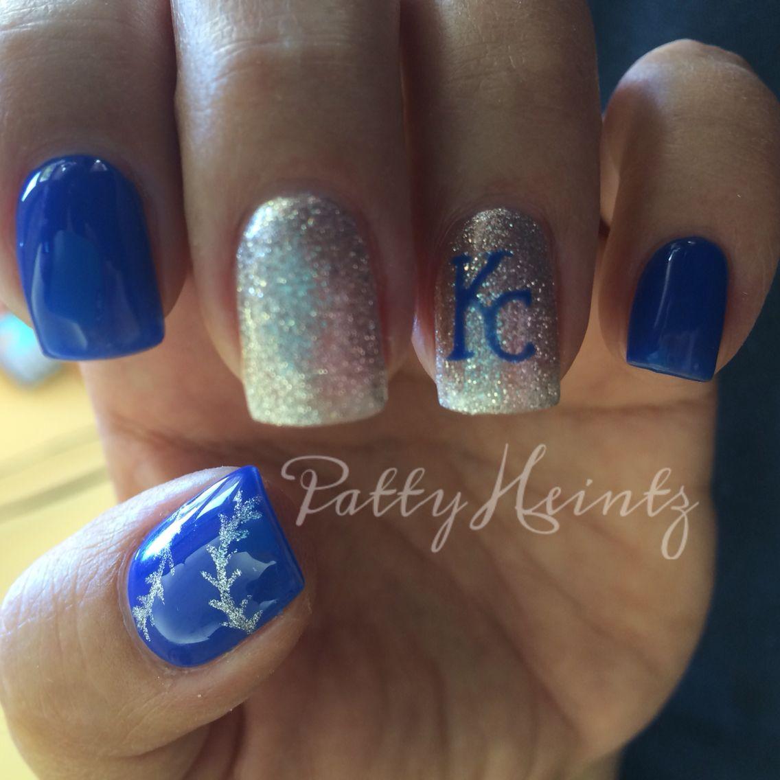 KC Royals Nails www.styleseat.com/pattyheintz | Kya | Pinterest ...