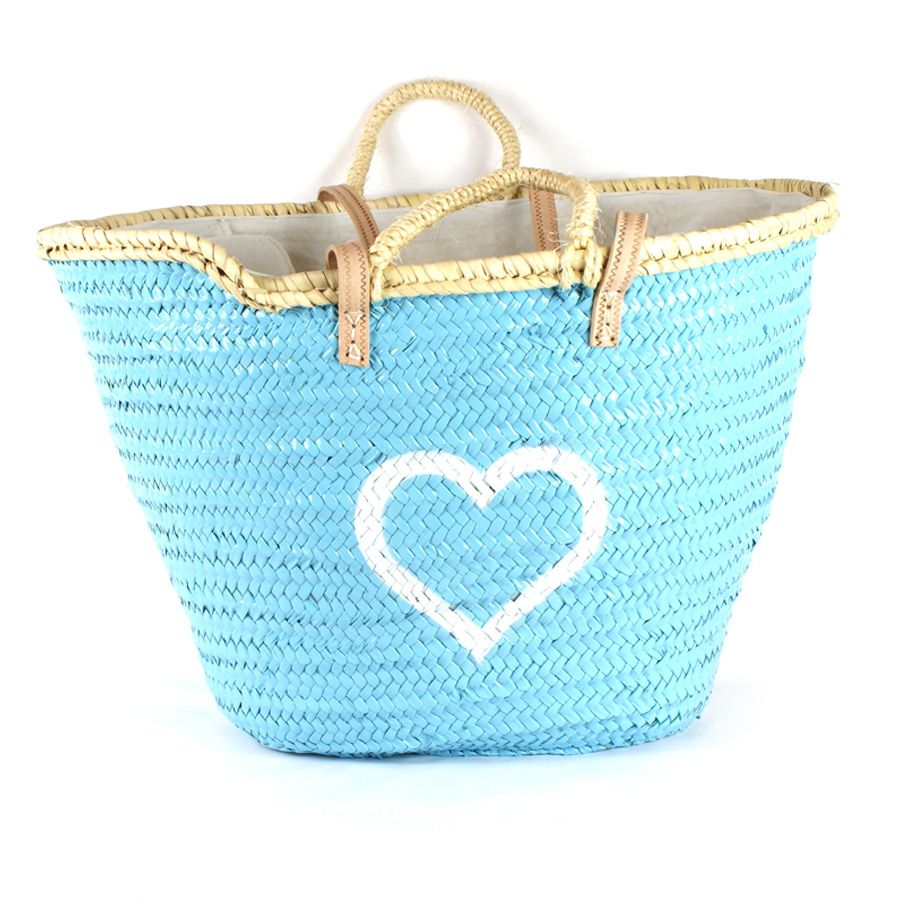 Capazo grande cerrado con tela tipo saco por su medida ideal para playa o piscina pintado a - Costo piscina chiavi in mano ...