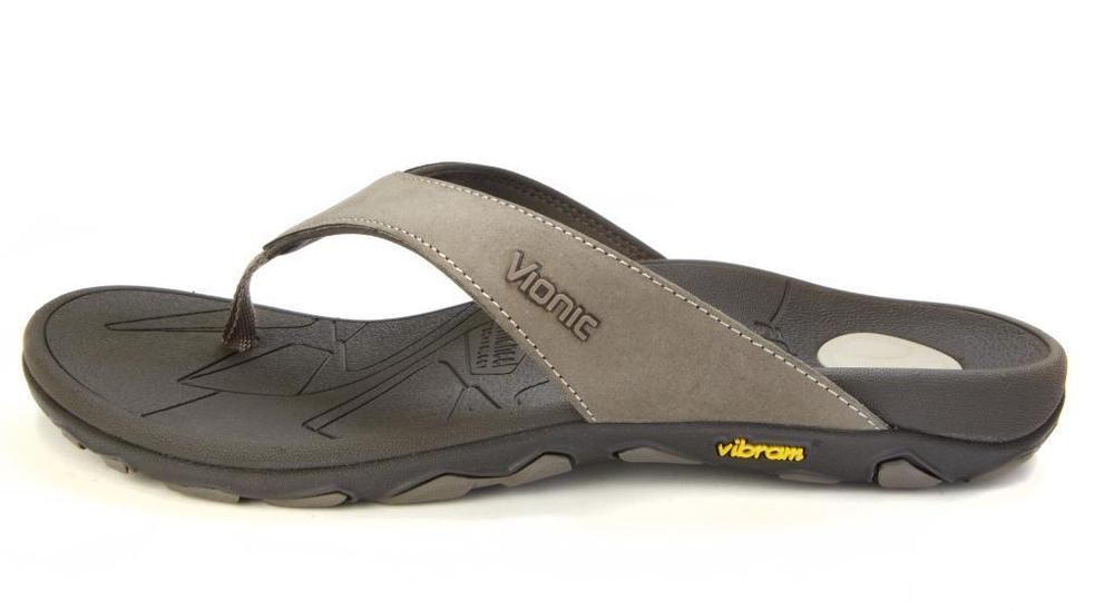 0a8197b425ad Vionic Bryce Orthotic Flip Flops for Men - Orthaheel Khaki - 12 M US   VionicOrthaheel  FlipFlopShoes