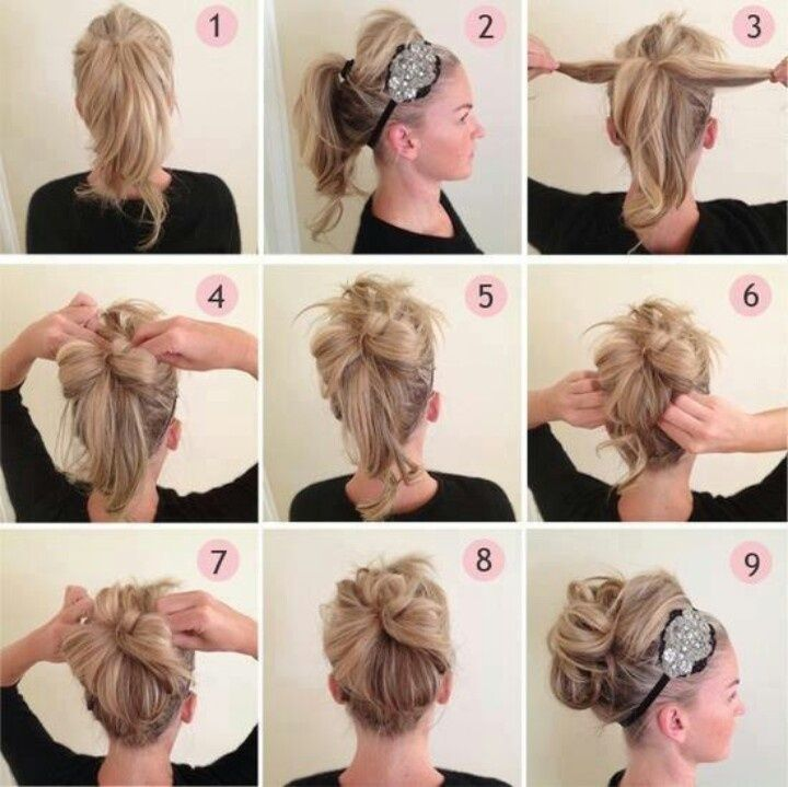 15 easy diy hairstyle ideas always in trend always in trend beaded headband updo hairstyle do it yourself fashion tipswithout the weird bang thing going on i would bump it up pmusecretfo Choice Image