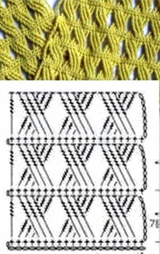Puntada cruzada | tejido | Pinterest | Cruzado, Puntadas y Ganchillo