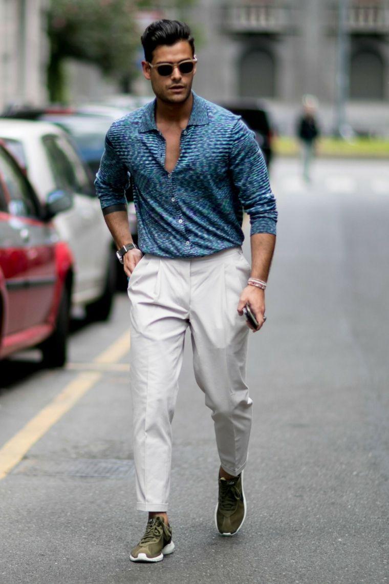 uk availability b0a48 482eb Abbigliamento comodo con pantalone fluido color crema e ...