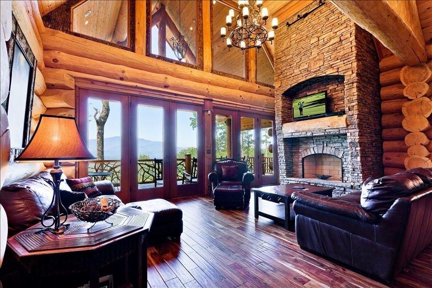 Cobbly Nob Vacation Rental   VRBO 359498   8 BR Gatlinburg Cabin In TN,  Wilderness