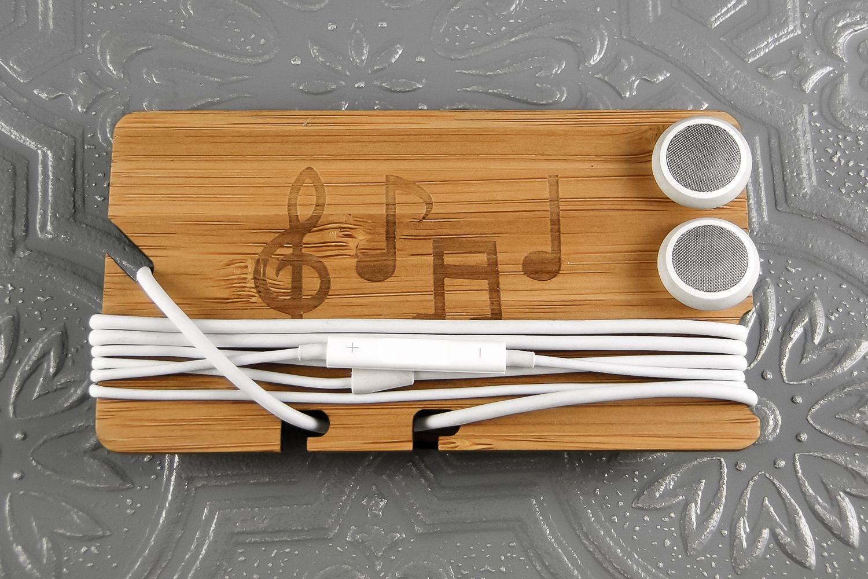 Laser-cut earbud holder from | A Wish List | Pinterest ...