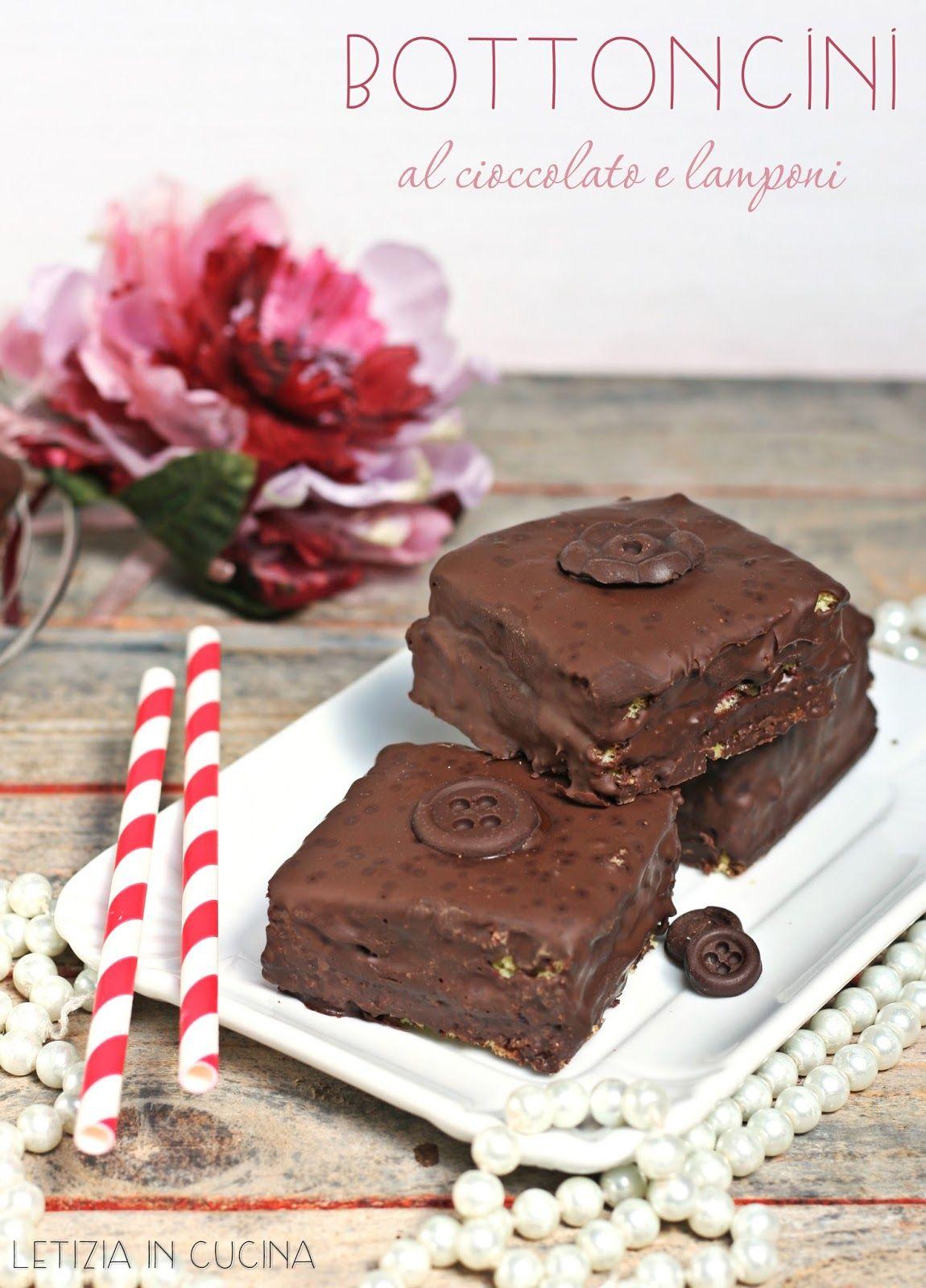 Letizia in Cucina: Bottoncini al cioccolato e lamponi - Cakes Lab ...