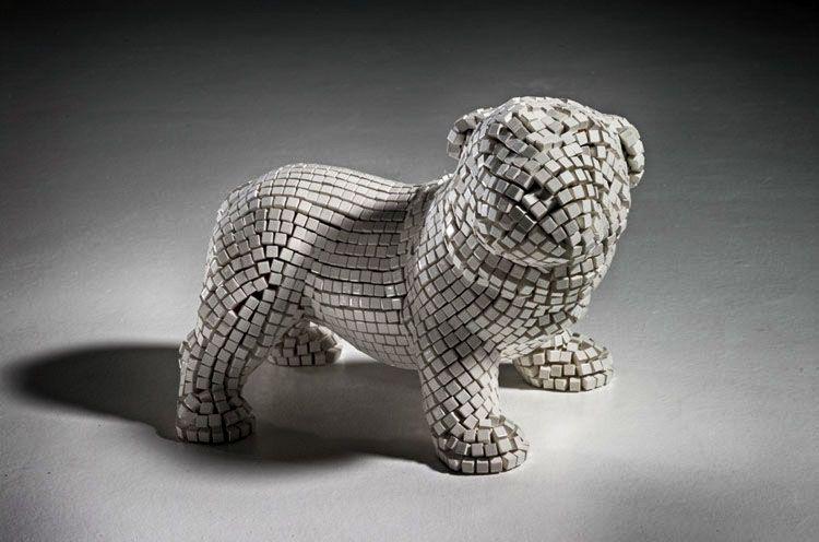 Mostre: La scultura in mosaico dalle origini a oggi, MAR-Ravenna, visit italiameravigliosa.org (nella foto: Andrea Salvadori, Untitled)