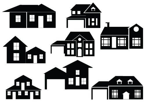 House Silhouette Vector Ideas For The House House