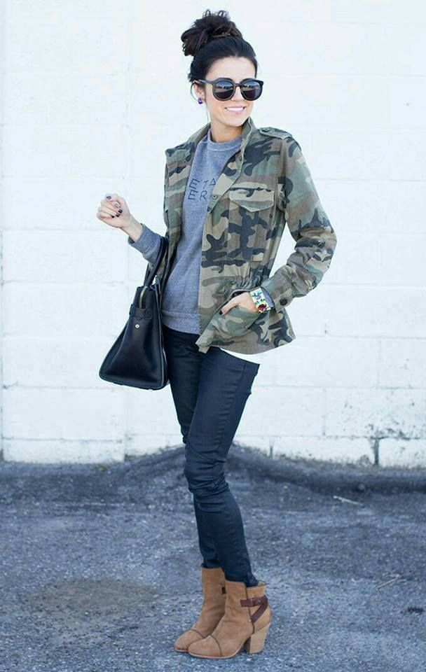 Outfits con ropa camuflajeada 9efbe02f9740